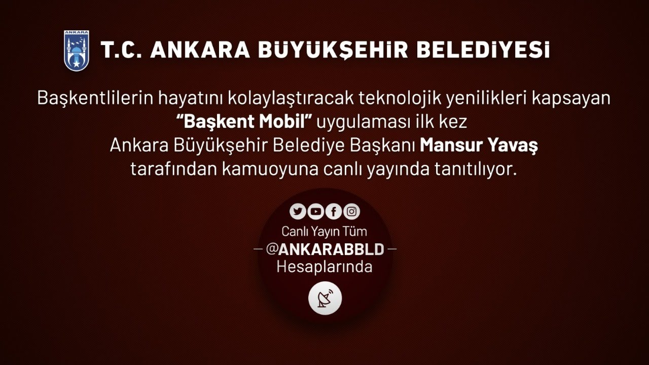 Ankara'nın dönüşümü başladı. Başkanımız Sn. Mansur Yavaş Başkent Mobil uygulamasını anlatıyor.