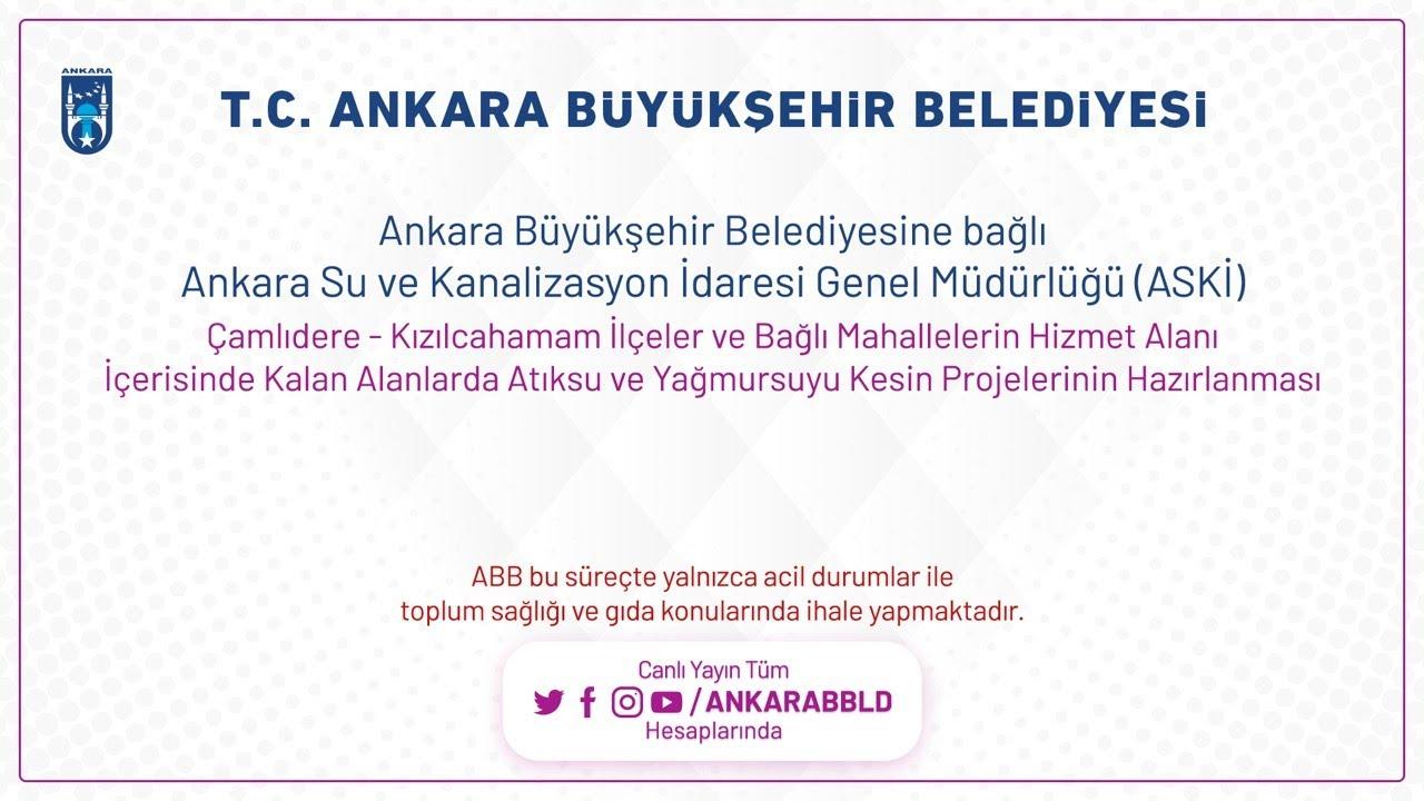 Ankara Su ve Kanalizasyon İdaresi Genel Müdürlüğü (ASKİ) Nallıhan-Beypazarı-Güdül Hizmet Alanı İçeri