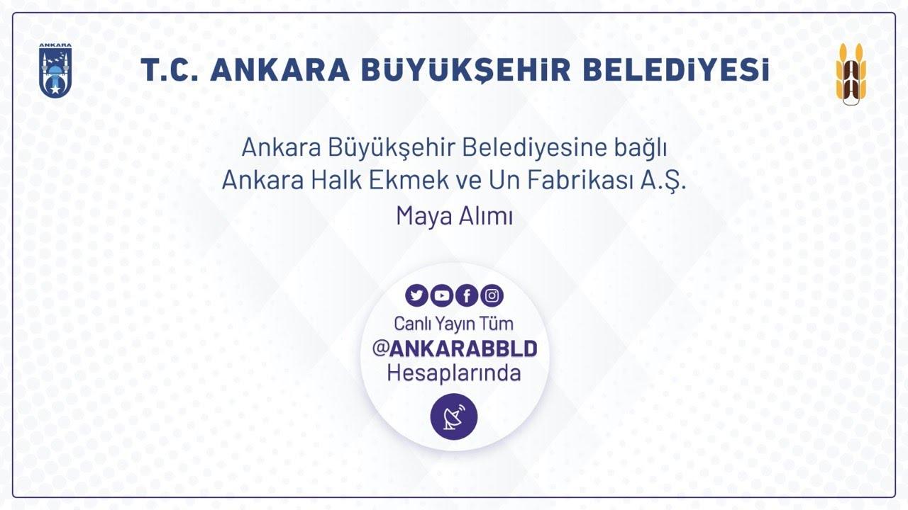 Ankara Halk Ekmek ve Un Fabrikası A.Ş.  Maya Alımı