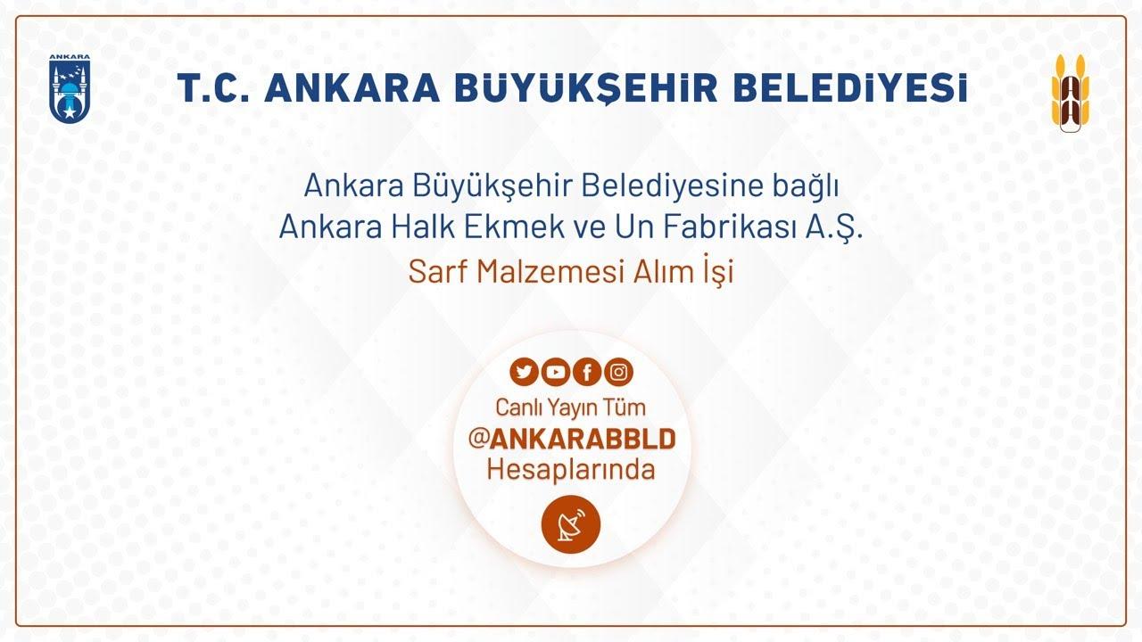 Ankara Halk Ekmek ve Un Fabrikası A.Ş. Sarf Malzemesi Alım İşi