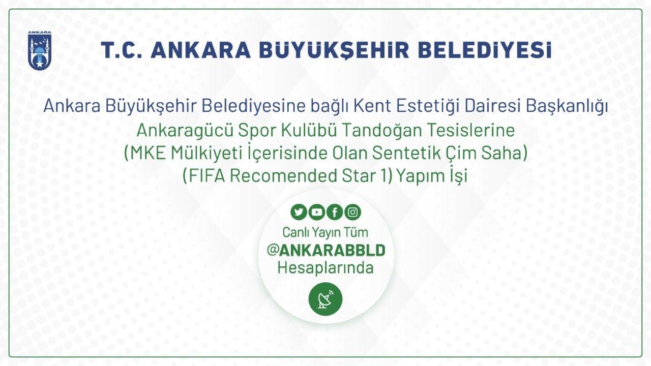 Kent Estetiği Da. Başk. Ankaragücü Spor Kulübü Tandoğan Tesislerine Sentetik Çim Saha Yapım İşi