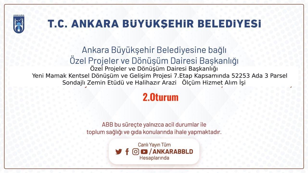 Özel Projeler ve Dönüşüm Dairesi Başkanlığı  Yeni Mamak Kentsel Dönüşüm ve Gelişim Projesi 7.Etap Ka