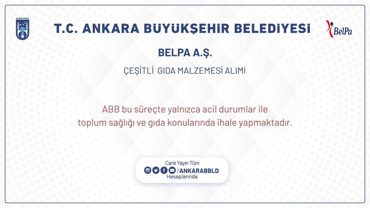 BELPA A.Ş. ÇEŞİTLİ GIDA MALZEMESİ ALIMI