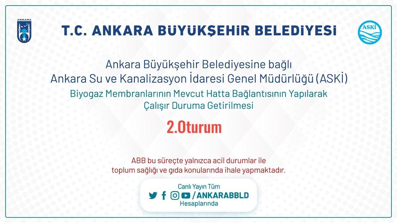 Ankara Su ve Kanalizasyon İdaresi Genel Müdürlüğü (ASKİ) Biyogaz Membranlarının Mevcut Hatta Bağlan