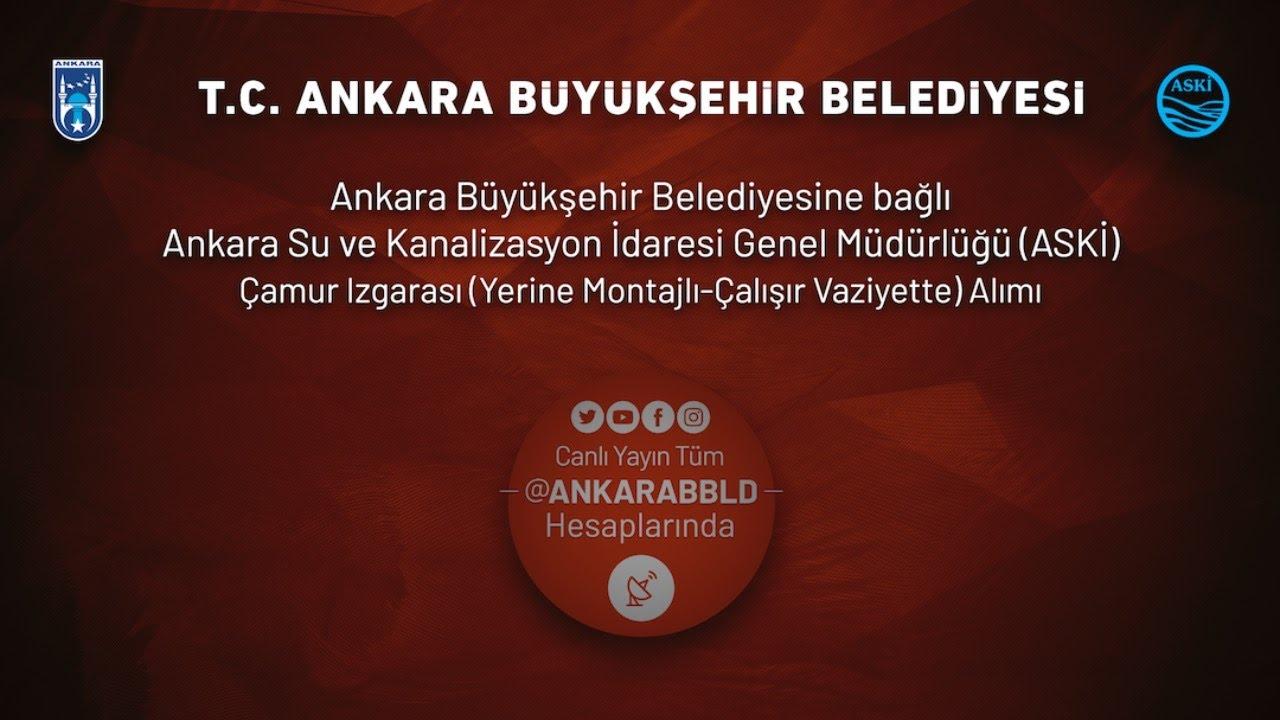 ASKİ Genel Müdürlüğü Çamur Izgarası (Yerine Montajlı-Çalışır Vaziyette) Alımı