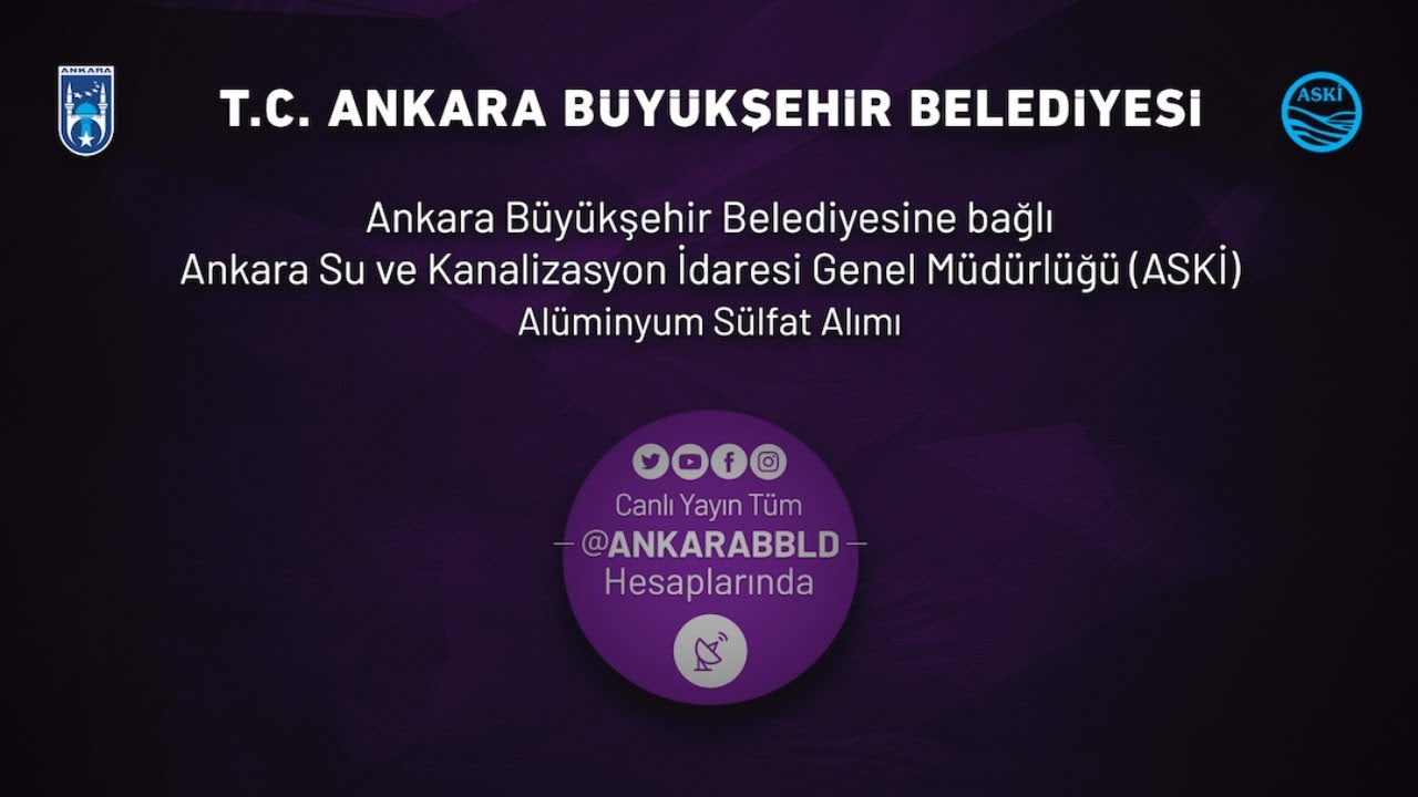 ASKİ Genel Müdürlüğü Alüminyum Sülfat Alımı