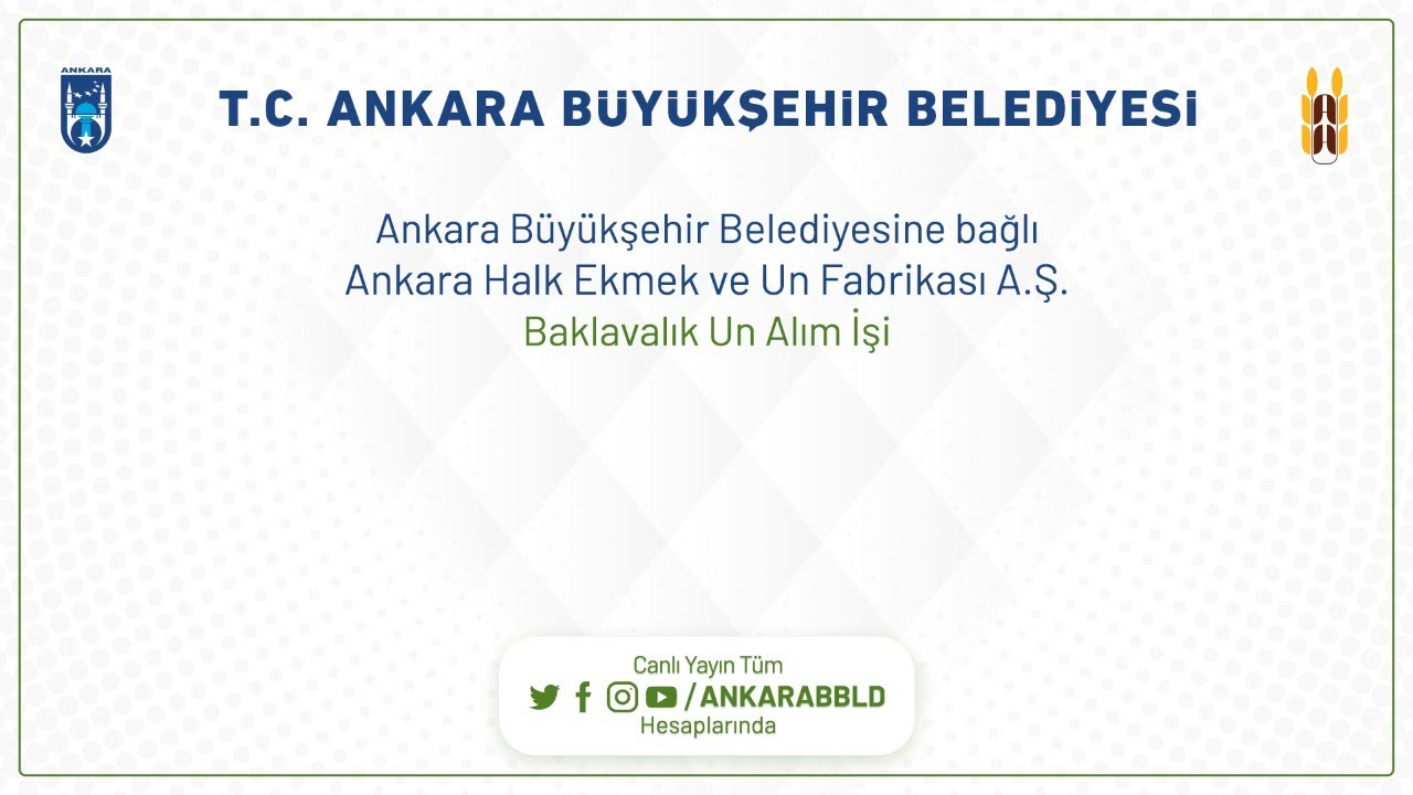 Ankara Halk Ekmek ve Un Fabrikası A.Ş. Baklavalık Un Alım İşi