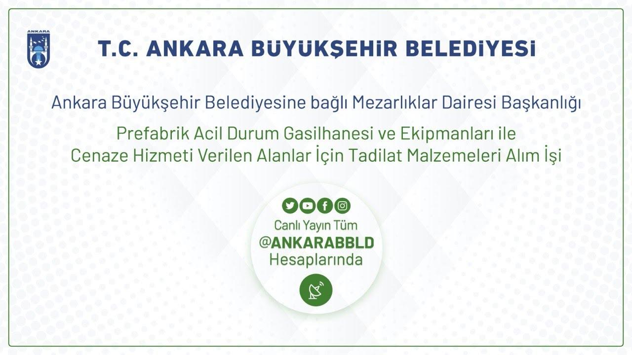 Mezarlıklar Dairesi Başkanlığı  Prefabrik Acil Durum Gasilhanesi ve Ekipmanları İle Cenaze Alanları
