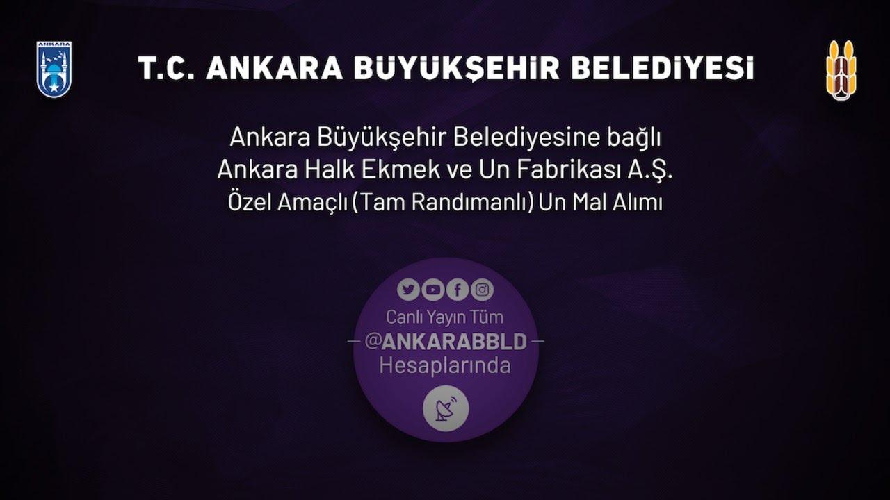 Ankara Halk Ekmek ve Un Fabrikası A.Ş. Özel Amaçlı (Tam Randımanlı) Un Mal Alımı İşi