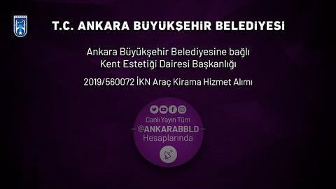 T.C. Ankara Büyükşehir Belediyesi Kent Estetiği Dairesi Araç Kiralama Hizmet Alım İşi İhalesi
