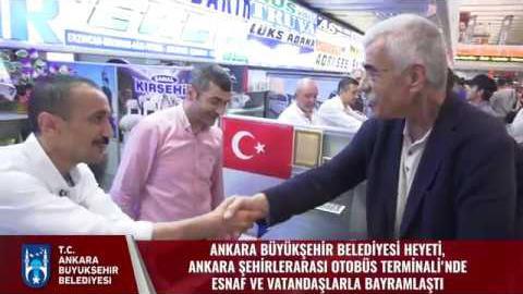 Ankara Şehirlerarası Otobüs Terminali'nde Esnaf ve Vatandaşlarla Bayramlaşma