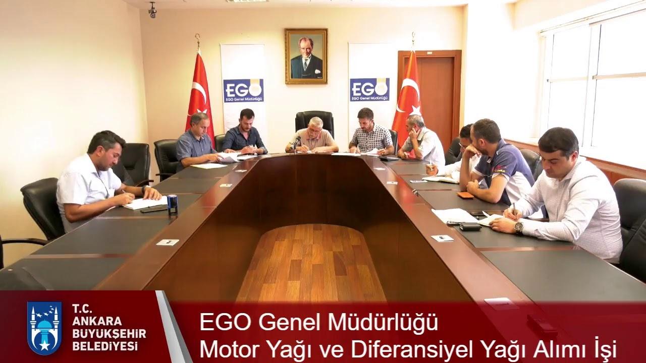 EGO Genel Müdürlüğü   Motor Yağı ve Diferansiyel Yağı Alımı İşi