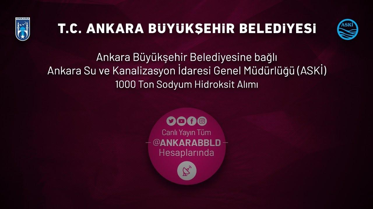 ASKİ Genel Müdürlüğü 1000 Ton Sodyum Hidroksit Alımı İhalesi