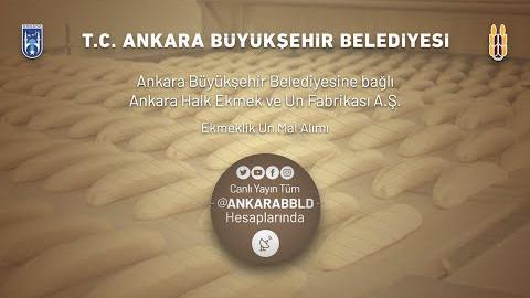 Ankara Halk Ekmek ve Un Fabrikası A.Ş. Ekmeklik Un Mal Alımı