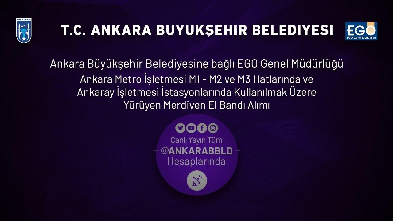 EGO Genel Müdürlüğü Metro ve Ankaray Kullanılmak üzere Yürüyen Merdiven El Bandı Alım İşi