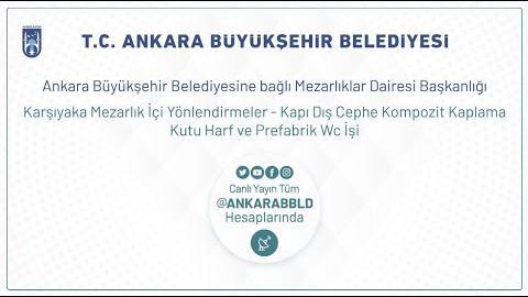 Karşıyaka Mezarlığı Yönlendirmeler - Kapı Dış Cephe Kompozit Kaplama Kutu Harf ve Prefabrik WC İşi