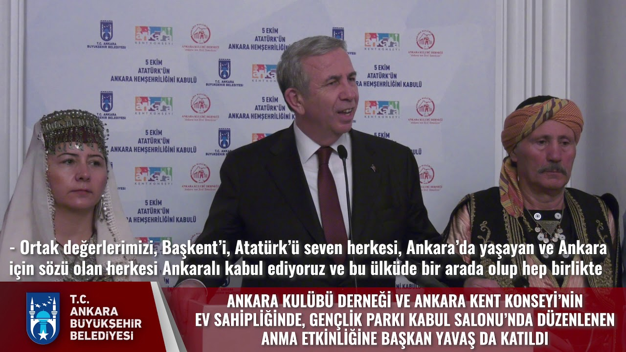ATATÜRK'ÜN ANKARA HEMŞEHRİLİĞİNİ KABULÜNÜN 97. YILDÖNÜMÜ