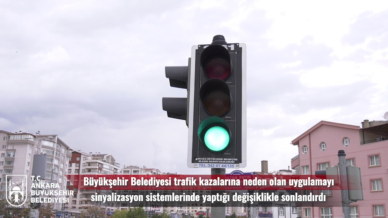 Başkent'te trafik ışıklarında yeşil flaş uygulaması sona eriyor