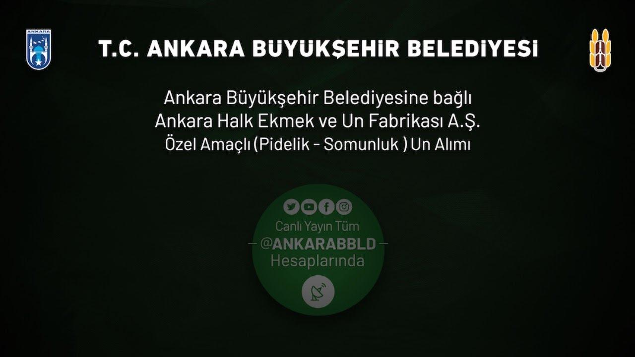 Ankara Halk Ekmek ve Un Fabrikası A.Ş. Özel Amaçlı (Pidelik - Somunluk) Un Alımı