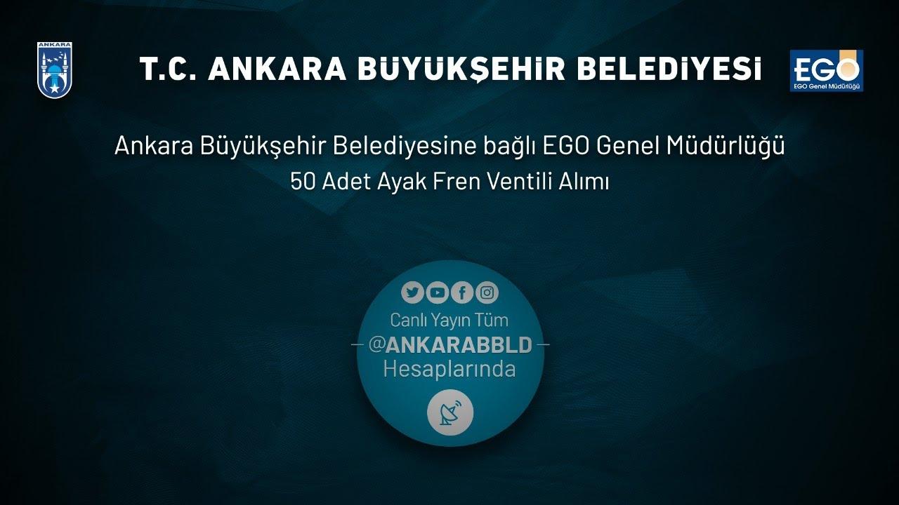 EGO Genel Müdürlüğü 50 Adet Ayak Fren Ventili Alımı İhalesi