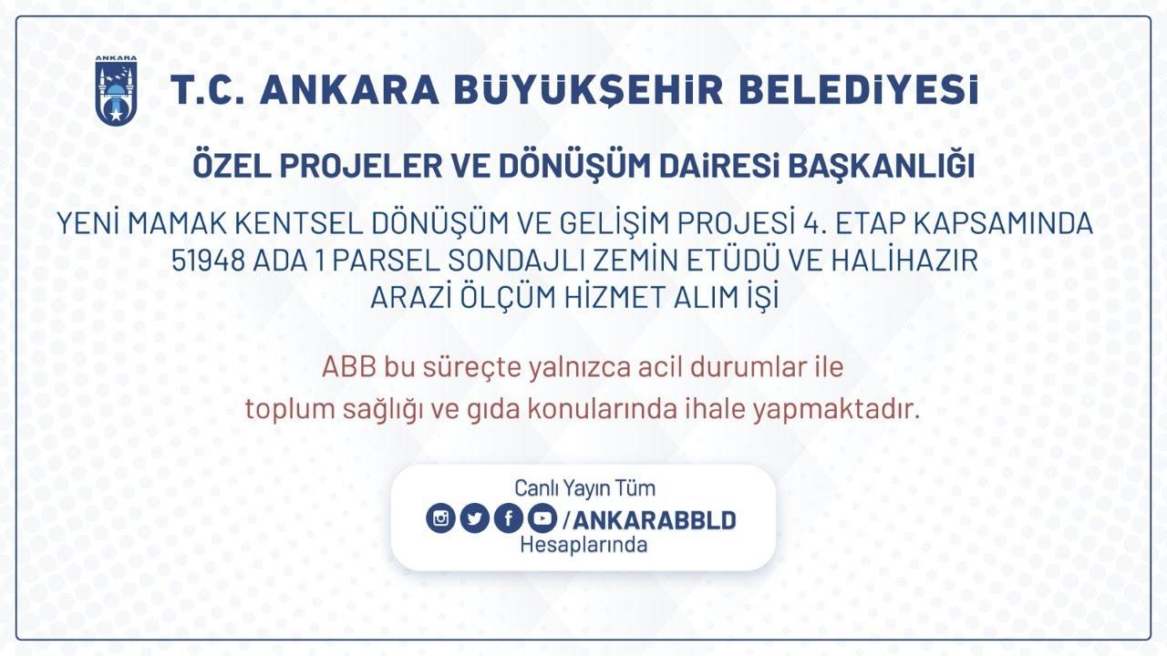 Özel Projeler ve Dönüşüm Dairesi Başkanlığı  Yeni Mamak Kentsel Dönüşüm ve Gelişim Projesi Zemin Etü