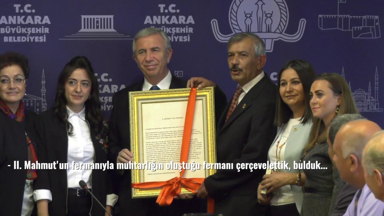 Başkentli muhtarlar Ankara Büyükşehir Belediye Başkanı Mansur Yavaş'ı ziyaret etti