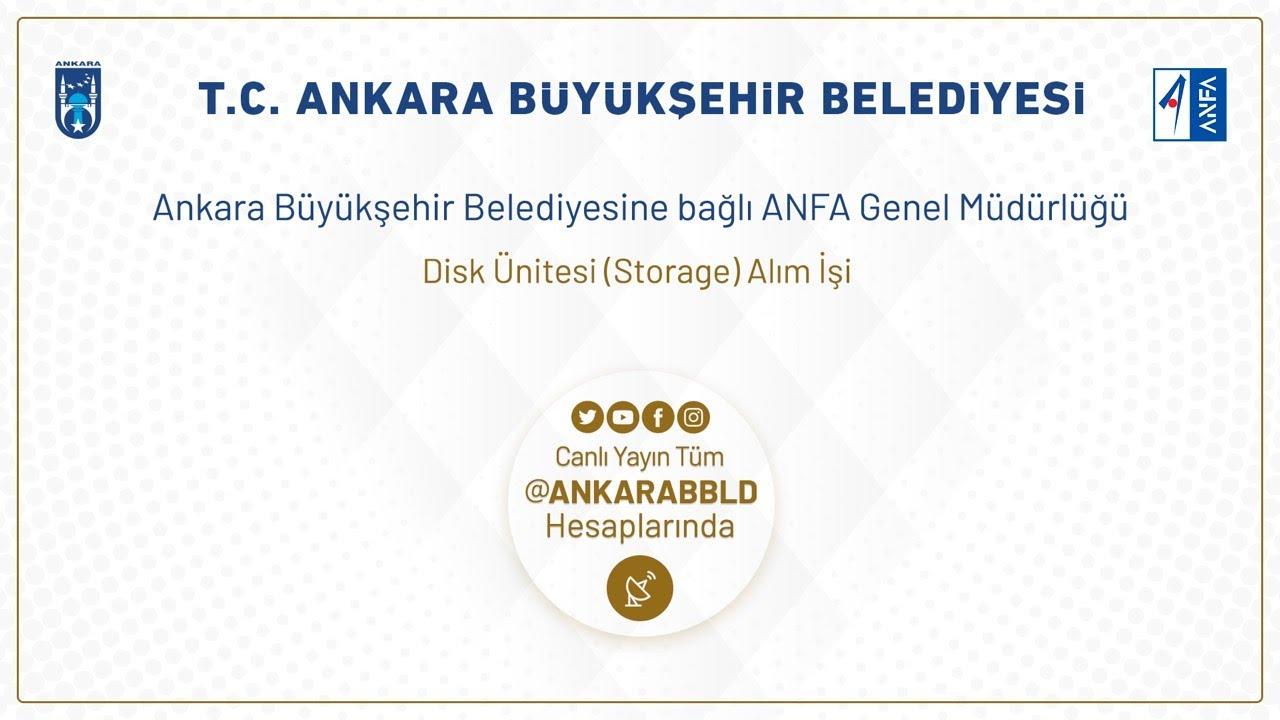 ANFA Genel Müdürlüğü Disk Ünitesi Alım İşi