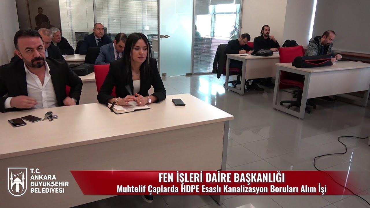 ABB  - Fen İşleri Dairesi Başkanlığı Muhtelif Çaplarda HDPE Esaslı Kanalizasyon Boruları Alımı İşi