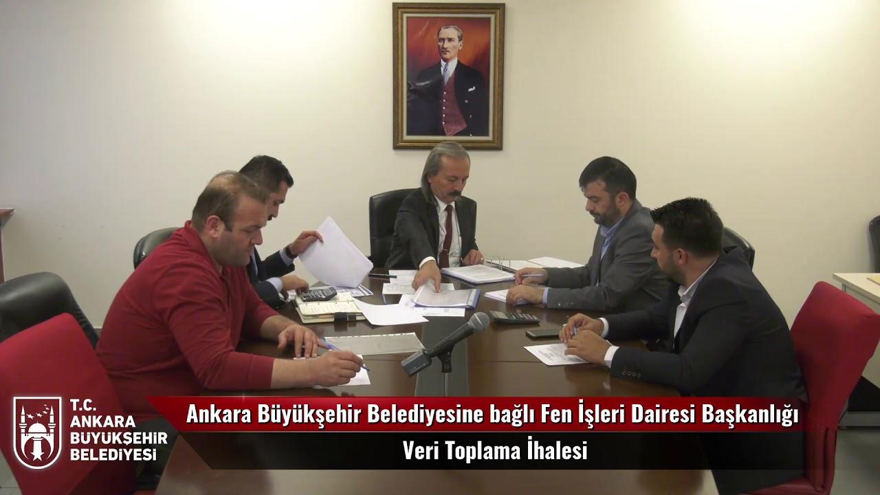 Ankara Büyükşehir Belediyesine bağlı Fen İşleri Dairesi Başkanlığı Veri Toplama İhalesi