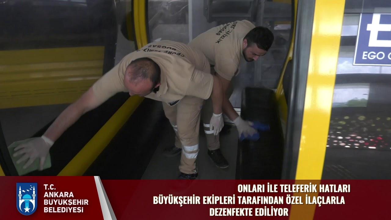 Büyükşehir Belediyesi Topluma Taşıma Araçlarında İç Dış Temizlik Çalışması Yapıyor