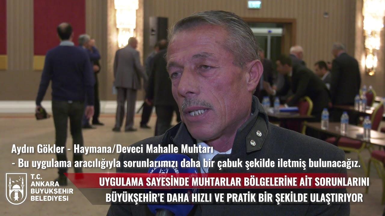 ''MUHTAR ANKARA'' MOBİL UYGULAMASI