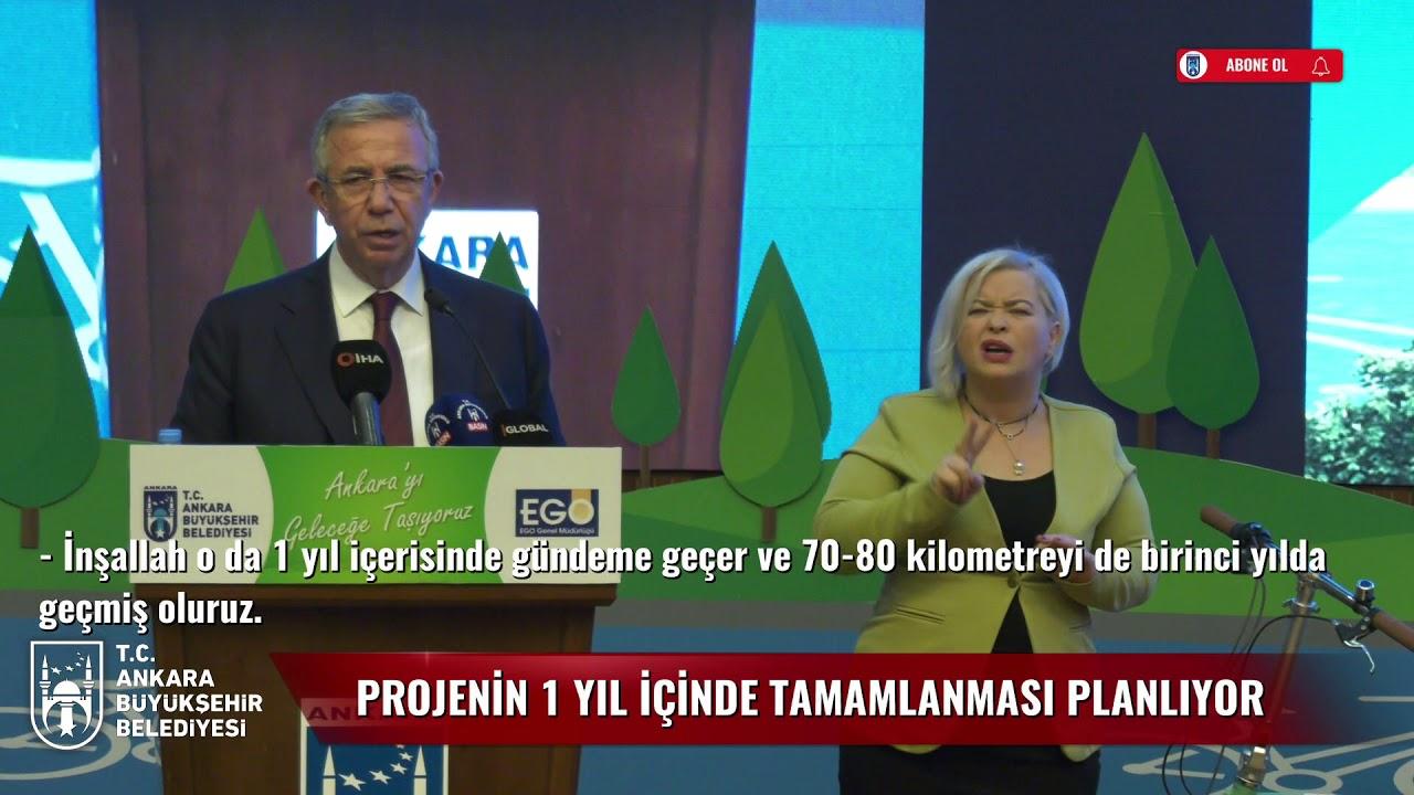 """BAŞKANIMIZ MANSUR YAVAŞ BAŞKENTTE YAPILACAK """"BİSİKLET YOLU PROJESİ""""Nİ TANITTI"""