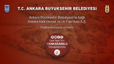 Ankara Halk Ekmek ve Un Fabrikası A.Ş. Pidelik Somunluk Un Alımı