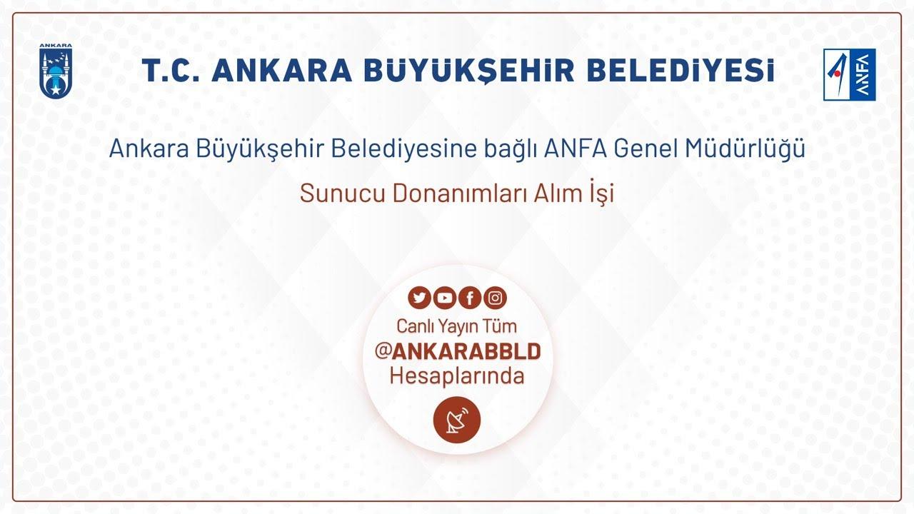 ANFA Genel Müdürlüğü Sunucu Donanımları Alım İşi