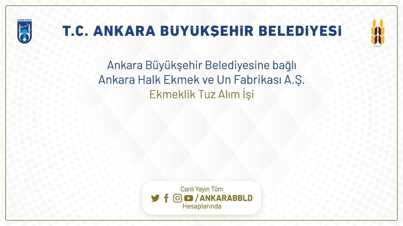 Ankara Halk Ekmek ve Un Fabrikası A.Ş. Ekmeklik Tuz Alım İşi