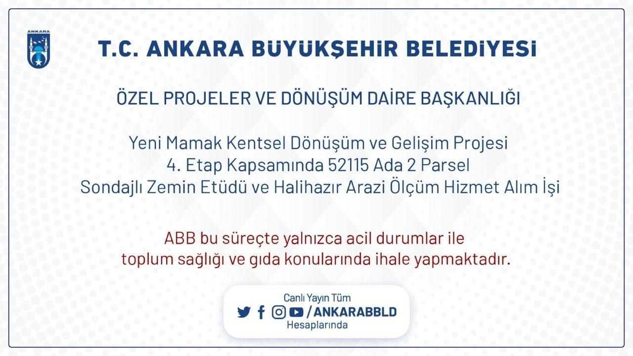 Özel Projeler ve Dönüşüm Dairesi Başkanlığı Yeni Mamak Kentsel Dönüşüm ve Zemin Etüdü, Arazi Ölçüm