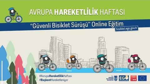 """Avrupa Hareketlilik Haftası Kapsamındaki """" Güvenli Bisiklet Sürüşü """" Online Eğitimi"""