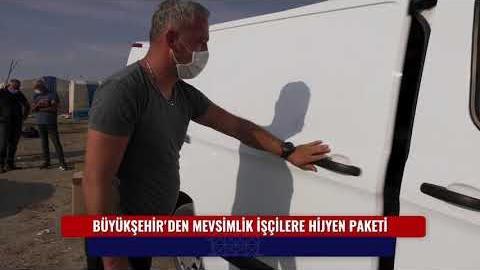 """BÜYÜKŞEHİR'DEN MEVSİMLİK İŞÇİLERE HİJYEN PAKETİ """"POLATLI"""""""