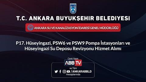 ASKİ GENEL MÜDÜRLÜĞÜ P17.Hüseyingazi, PSW6 ve PSW9 Pompa İstasyonları Revizyonu Hizmet Alımı