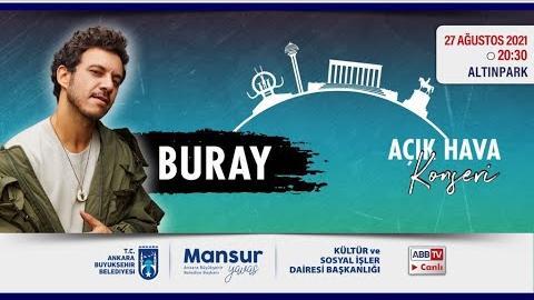 """""""Büyükşehir Parklarda"""": Müzik ve Mutluluk Zamanı; Buray Konseri"""