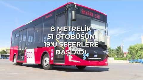 Yeni otobüslerimizin ilk partisi Ankara sokaklarında.