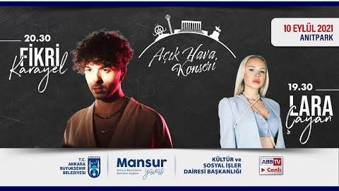 """""""Büyükşehir Parklarda"""": Müzik ve Mutluluk Zamanı Lara Çayan ve Fikri Karayel Konseri"""