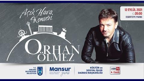"""""""Büyükşehir Parklarda"""": Müzik ve Mutluluk Zamanı; Orhan Ölmez Konseri"""