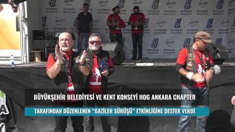 """Gaziler Günü Kapsamında Belediyemiz, Kent Konseyi ve HOG Ankara """"Gaziler Sürüşü"""" Etkinliği Düzenledi"""