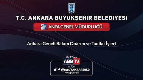 ANFA GENEL MÜDÜRLÜĞÜ - Ankara Geneli Bakım Onarım ve Tadilat İşleri