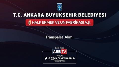 HALK EKMEK VE UN FABRİKASI A.Ş. -Transpalet Alımı